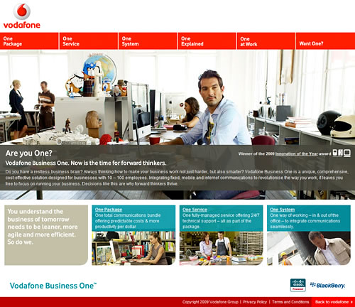 Vodafone business one home