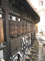 prayer wheels surrounding Swayambhunath temple (mccannmitchell) Tags: nepal happy movement peace buddhist magic traditional prayer ritual kathmandu spiritual tranquil worldheritage enchanting auspicious hypnotising revered