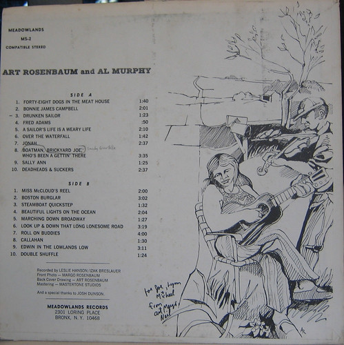 Art Rosenbaum & Al Murphy LP back by you.