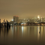 Fog rolling into Boston Harbor..