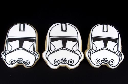Star Wars Storm Trooper Decorated Cookies