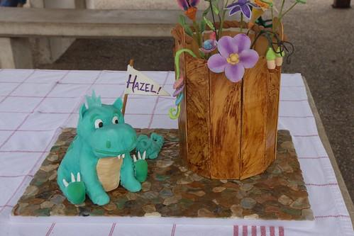 hazel's baby dragon cake