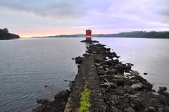 baliza (quimera_rfv) Tags: costa naturaleza lighthouse nature geotagged faro atardecer mar nikon lighthouses galicia puestadesol puesta cabaas pontedeume cabanas eume d90 geolocalizada