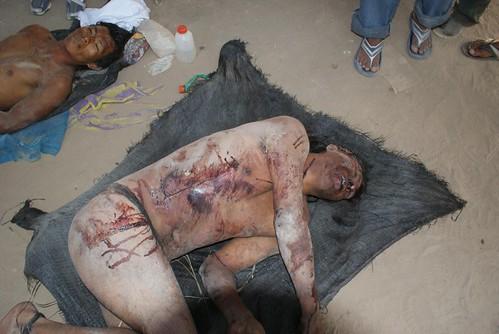 Nativos muertos durente desalojo en carretera a Bagua por dhperu.