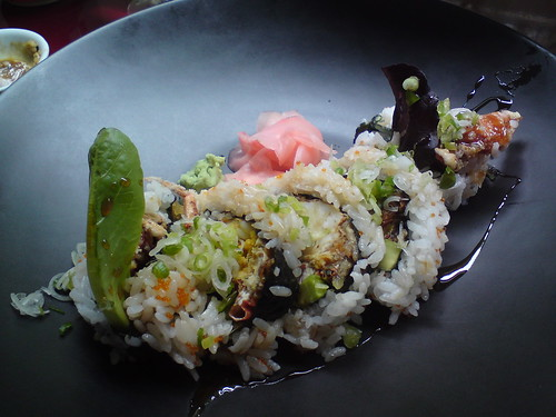 Rice & Fish: Spider roll (soft-shell crab)