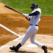 Jeter takes a hack