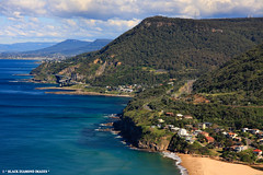 View South Over Sea Cliff Bridge From Bald Hill Lookout Stanwell Park (Black Diamond Images) Tags: panorama view australia lookout nsw coastline sutherland wollongong bulli hanggliding royalnationalpark illawarra australianscenery seacliffbridge lawrencehargravedrive balancedcantileverbridge coastalscenery grandpacificdrive lawrencehargrave baldhilllookout blackdiamondimages stanwellparklookout