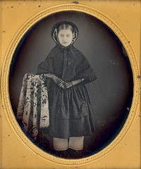 Dark Beauty (Mirror Image Gallery) Tags: mourning victorian cape daguerreotype bonnet