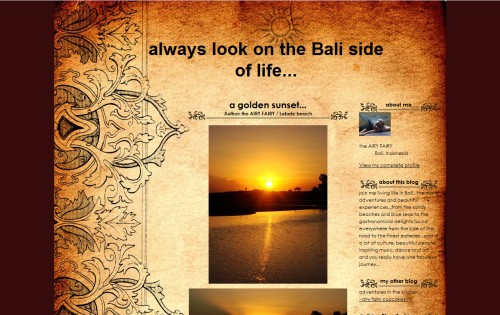 always look on the bali side of life..
