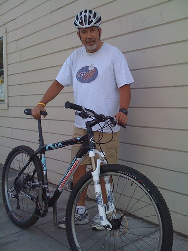 """Mr. B and his 21"""" Gary Fisher Superfly 29er by Cold Iron."""