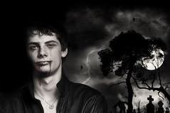 Dark boy (morganmarinoni.com) Tags: boy moon night photoshop dark wolf zombie uomo scream horror ragazzo paura terrore incubi memorycornerportraits