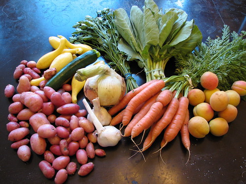 1st CSA Box from Full Belly Farms