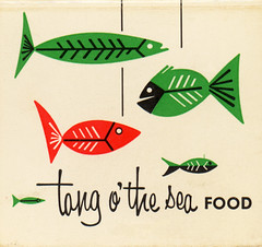 Tang o' the Sea (jericl cat) Tags: sea fish art mobile illustration vintage paper design artwork grill ephemera font type seafood googie tang odonnells vectorg tangothesea