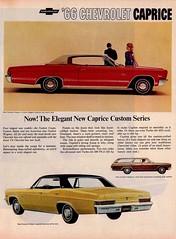 Chevrolet Caprice Ad (saltycotton) Tags: chevrolet car vintage magazine automobile ad convertible 1966 advertisement lifemagazine 1960s stationwagon caprice