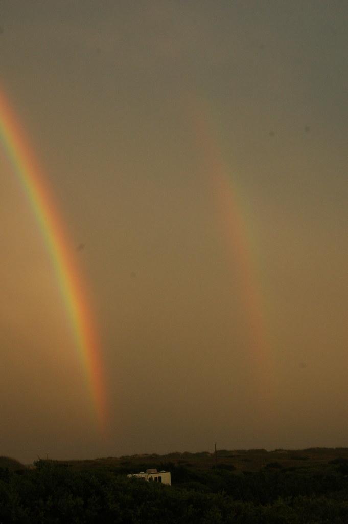Double rainbow over Frisco beach