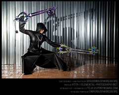 8-13 Cosplay Commissions : Kingdom Hearts II Organization XIII coat w/ hood up