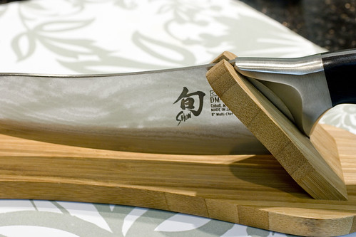 "8"" Chef's Knife with stand 2"
