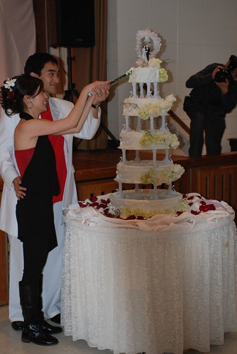 The cake was HUGE!