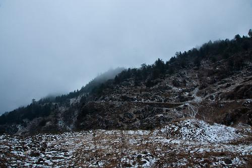 หิมะและน้ำแข็งระหว่างทาง