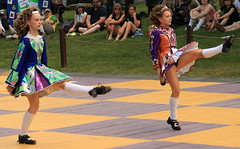 In Tandem (jennabee25) Tags: irishdancing pennsylvaniarenaissancefaire celticfling parennfaire nanfdireland irishhardshoedancing pairsdancing hooleyschoolofirishdance