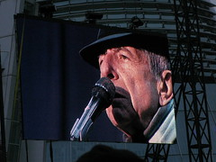 Big Screen, Leonard Cohen Concert (second half), Weybridge 11 July 2009