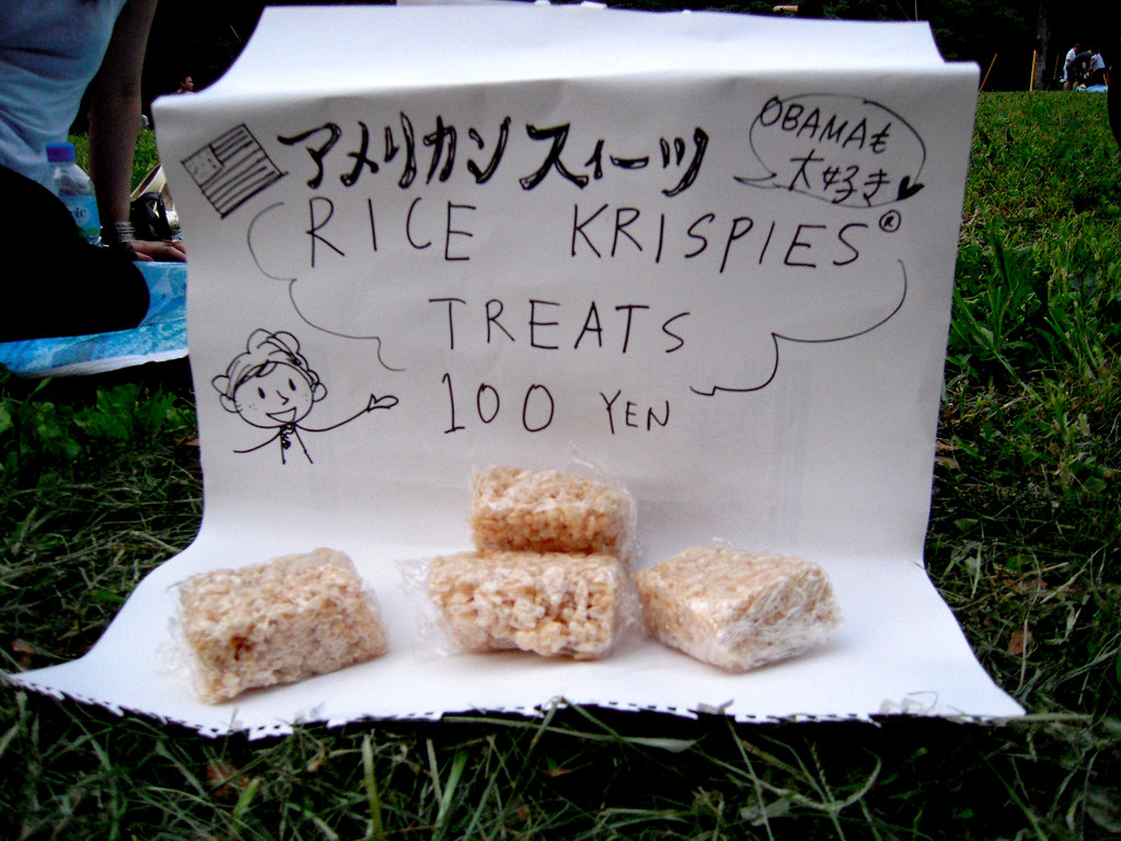 Rice Krispies Treat Sale at Yoyogi-koen