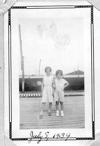 Johanna D'Ippolito and Paula Periale , July 8, 1934