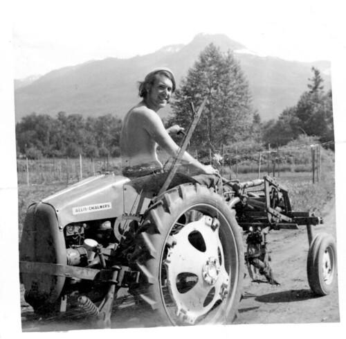 Gene Kahn on the Tractor