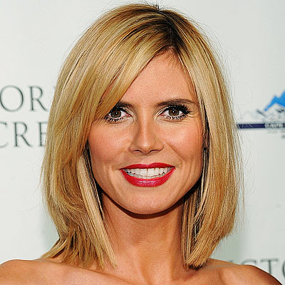 photoshop hairstyle. heidi klum short hair style.