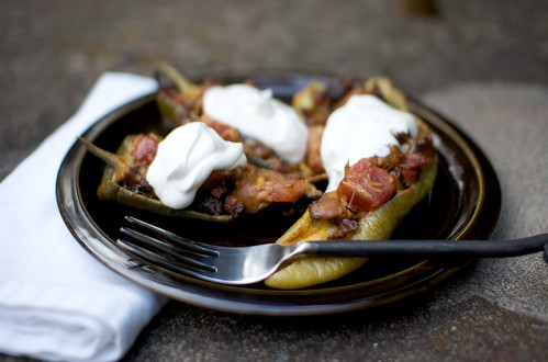 burnt ends stuffed peppers