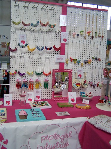 Peptogirl Industries booth at Renegade Craft Fair in SF