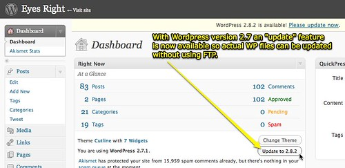 Update WordPress without FTP