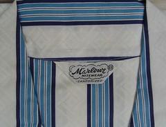 """""""Marlowe Nitewear"""" Label (CollectoratorOne) Tags: vintage 1950s pjs mens marlowe pajamas newoldstock sanforized nitewear originaltags"""
