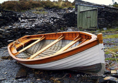 Rowboat On Slate