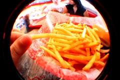 Cutest Fries Ever! (alicarreon!) Tags: food cute yummy san little burger fast fries antonio freddys