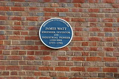 Photo of James Watt blue plaque