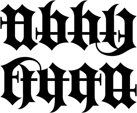 old english letters tattoos. Ambigram - Old English
