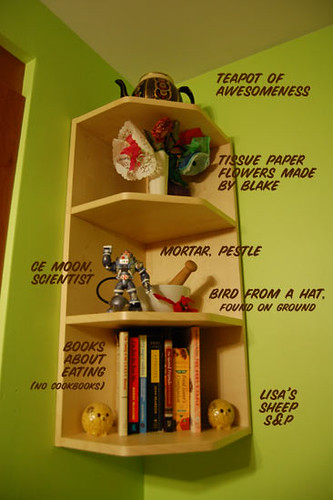 annotated bookshelf
