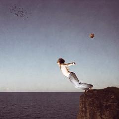 The Concept of Change (Kevin Farris) Tags: ocean boy sea portrait sky cliff man 20d texture birds photoshop self canon balloons fly jump kevin power emotion grunge horizon faith flock flight dive dream away jeans change 365 concept icarus conceptual leap farris daedalus texturized kfp strobist canon1735mmf28l kevinfarris kevinfarrisphotography
