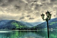 Zell am See (Bo AhmaD) Tags: mountain lake green nature water lamp clouds austria country zellamsee hdr boahmad