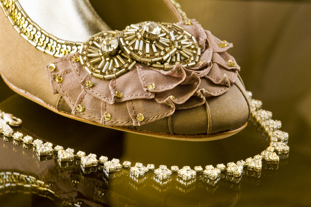 Brides Wedding Shoe and Necklace