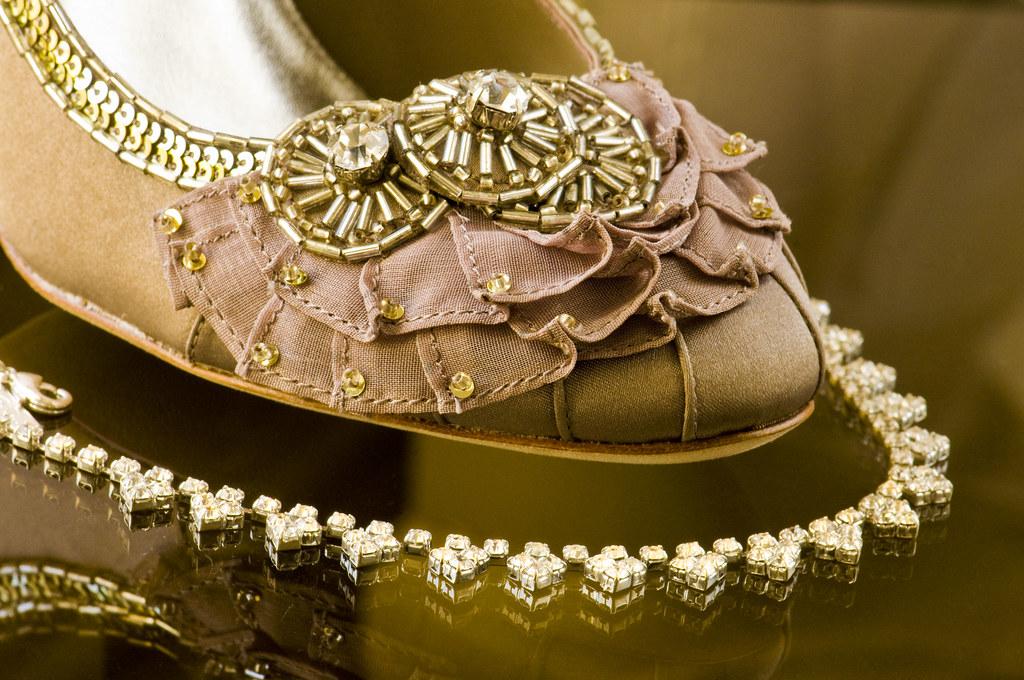 Brides Wedding Shoe and Necklace