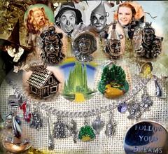 "Pulsera ""El mago de Oz"" (Noia Land) Tags: hat silver dorothy shoe heart handmade witch oz wizard farm ooak balloon lion craft fairy plata bracelet ley sterling sombrero mago len espantapjaros charms corazn tinman pulsera globo hada granja zapato bruja escoba rubi dorita leador followyourdreams hombredehojalata noialand"