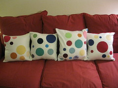 Polka Dot Pillows for Kate