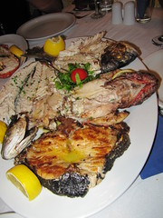 4 kinds of fish - Sunset Tavern - Oia - Santorini