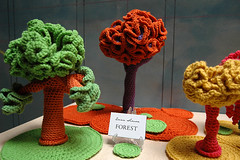 forest (callie callie jump jump) Tags: trees sculpture art nature coral burlington vermont crochet sealife yarn fiberart southend hyperbolic arthop seaba kelihersametsvolk