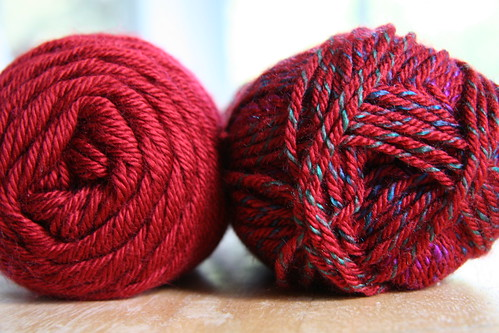 red scarf yarn