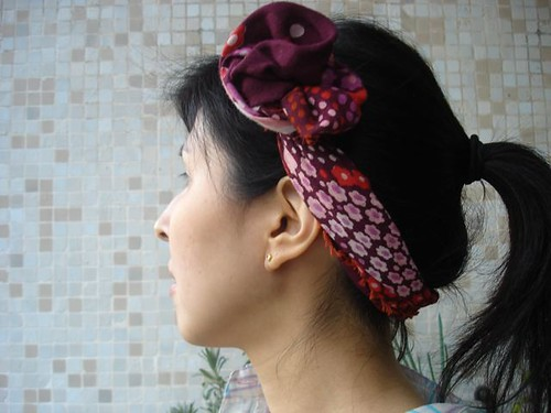Flor na cabeça