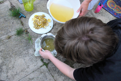 Bottling Elderflower Cordial