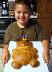 The finished Teddy Bear Bread